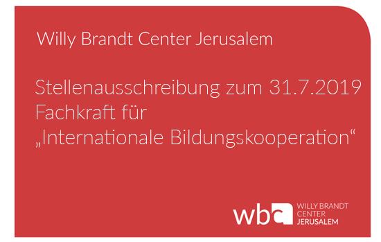 Aktuelles - Willy Brandt Center Jerusalem